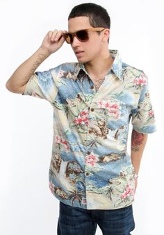 4cbcd205642a Iron And Resin Clothing Paradise Road S S Button Up Shirt - Vintage Blue   72.00