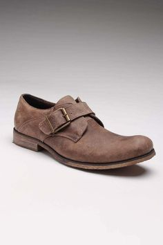 Brown Buckle Oxfords