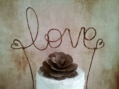 Rustic LOVE Cake Topper Banner - Rustic Wedding, Shabby Chic Wedding, Garden Party on Etsy, $27.00