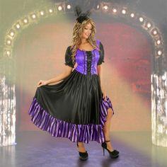 Womens Purple Saloon Girl Costume