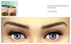 Female eyebrows #3 default by Gelcha at ihelensims via Sims 4 Updates