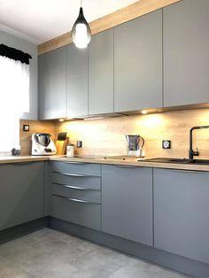 Kitchen Pantry Design, Best Kitchen Designs, Modern Kitchen Design, Interior Design Kitchen, Ikea Kitchen, Living Room Kitchen, Home Decor Kitchen, 2bhk House Plan, Interior Exterior
