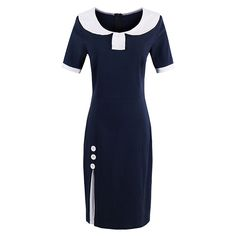 Cheap women bodycon dress, Buy Quality bodycon dress directly from China female dress Suppliers: Sisjuly Summer Women Bodycon Dress Spring Dresses Dark Blue Short Sleeve Knee-Length Female Dress Girls Cotton Blends Dresses
