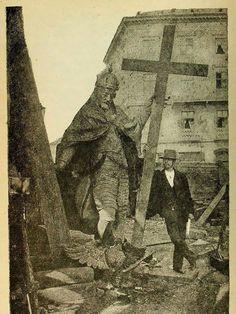Pomnik króla Zygmunta po renowacji, 1887 rok. fot. Konrad Brandel