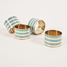 preppy stripes napkin rings