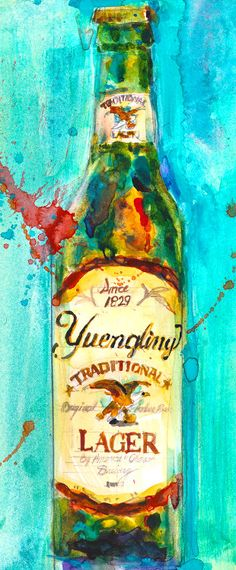 Beer Art Yuengling Beer Art Print from Original Watercolor (Print Size - 8.5 x. 11) and (Print Size - 10 x 20) by dfrdesign on Etsy https://www.etsy.com/listing/217692987/beer-art-yuengling-beer-art-print-from