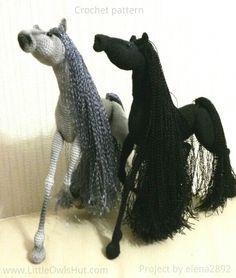 "Amigurumi horses ""White Dream"" crochet by Pertseva to make this beauty. #LittleOwlsHut. (Pattern available to purchase)."