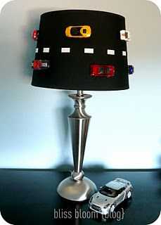 Racing Car Lamp - I'll just have to teach Michael NOT to pull the cars off.