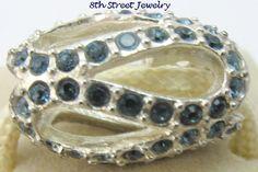 NEW Chamilia Charm Bead Sterling Silver 925 Glistening Meander - Blue 2083-0408 #Chamilia #European