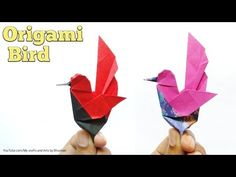 This is a cute origami bird 🐦 designed by me. You can take square paper and try to fold it. I have made some more variations. Cute Origami, Paper Crafts Origami, Oragami, Make Tutorial, Origami Tutorial, Origami Flowers, Origami Birds, Paper Folding, Folding Money