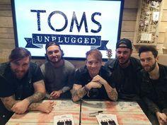 Guys with Mallory Knox 2015 TOMS UK Mallory Knox, Toms, Music, Musica, Musik, Muziek