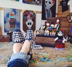 Huaraches Azul Rey Gold - Mexican Huaraches - Huaraches Mexicanos - Shoes - Vintage - Leather  - Calzado - Zapatos.