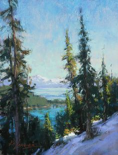 Emerald Bay Overlook by Kim Lordier Pastel ~ 6 x 8