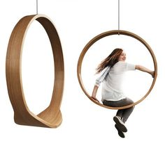 A minimalist indoor swing that's so much cooler than anything you've ever seen at a playground.