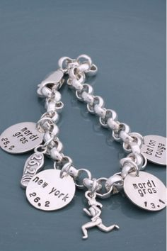 "...because you can't wear your medals to work, LOL!  Just ordered a ""brag"" bracelet with charms for all my half marathons (3) and my first full marathon!  Can't wait for it to arrive!"