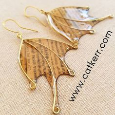 """Amazing Casting Products: Gone """"Batty"""" Resin paper and Wire Earrings Best Picture For DIY Wire Earrings easy For Your Taste You are looking for something, and it is going to tell you exactly Paper Earrings, Beaded Earrings, Stud Earrings, Resin Jewelry, Jewelry Crafts, Handmade Jewelry, Handmade Wire Earrings, Jewellery, Diy Resin Art"""