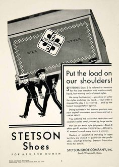 1930 Ad Stetson Shoes Men Women Fashion South Weymouth Massachusetts YBSR1   eBay