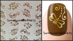 Gold dragonfly nail art water decals water transfer on Etsy, 1,91€