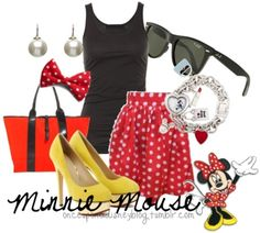 This blog has interpretive outfits from disney characters. I love.