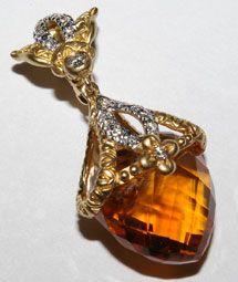 Anvil Fine Wares - Barbara Bixby Couture 18K Yellow Gold & Citrine Pendant