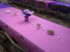 Princess baby shower table.