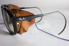 5cd1ff547e Vintage Ray Ban CATS 7000 GLACIER CHANGEABLES Sunglasses side shield aviator