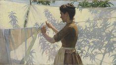 Charles Courtney Curran,   American, 1861-1942 -   Shadow Decoration, 1887