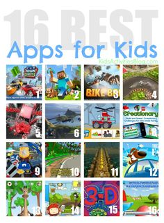 16 {Best} Apps for Kids... I guess I'll have a look at this, Oliver wants to try Mincraft.