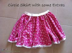 Tutorial: Circle skirt with piped panels and lace trim – Sewing