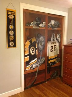1000 ideas about hockey room on pinterest hockey Bruins room decor