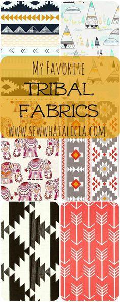 My Favorite Tribal Fabrics | www.sewwhatalicia.com
