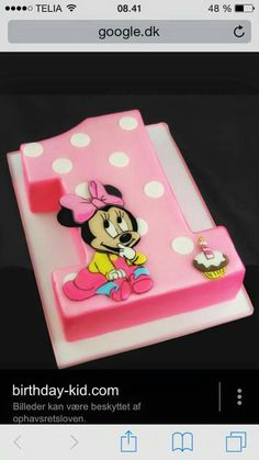 Minnie mouse 1 tal kage