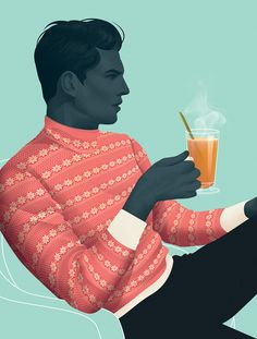 Illustration / Cocktails for Cold Nights by Jack Hughes — Agent Pekka