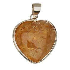 The evenstar golden rutile and citrine crystal pendant jewelry citrine heart pendant crystal jewelry rough cut pendant healing jewelry rcp 189 aloadofball Choice Image
