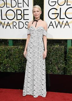 Michelle Williams in Louis Vuitton ~ Golden Globes 2017. Cute.