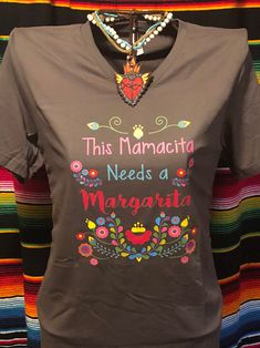Mamacita ladies Womens tee shirt unisex t-shirt cotton Mexican Outfit, Mexican Dresses, Mexican Style, Mexican Clothing, Little Girl Dresses, Girls Dresses, Tee Shirts, Tees, Embroidery Dress
