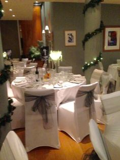 Hart's Nottingham - chair covers for Christmas parties