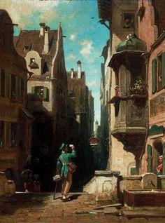 Carl Spitzweg (German, 1808-1885) - Der Postbote