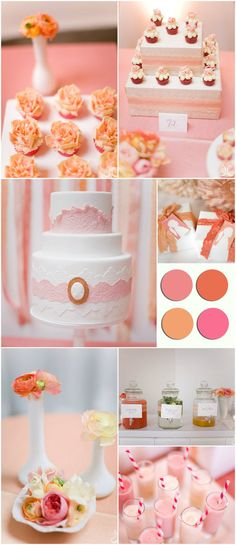 TOP 5 Bridal Shower Themes 2013..pink and coral soo girly and feminine