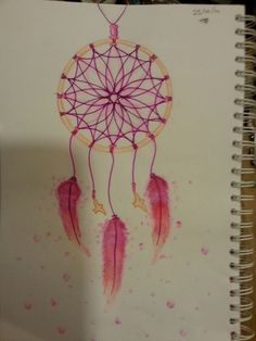Dream catcher, color pencils/ fineliner/ alcohol