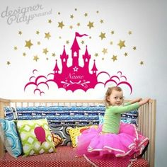 wall decal, Princess Castle wall decal, wall sticker, tree wall decal, tree wall sticker, nursery wall decal, nursery wall sticker, kids wall decal, children wall decal , vinyl, home décor, wall graphic, wall art, wall mural , kid wall sticker, children wall sticker, animal wall decal, animal wall sticker