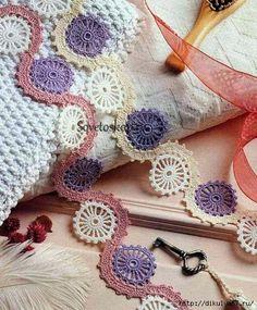 Delicadezas en crochet Gabriela: Adornos de ganchillo multicolores.Puntillas o borde