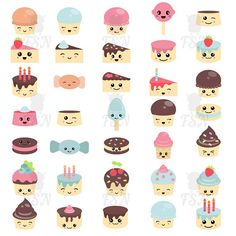 Cute sweets and candy. Cheeky Sweets Digital Clipart Clip Art