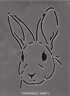 Stencil Rabbit 2 stampinback.nl