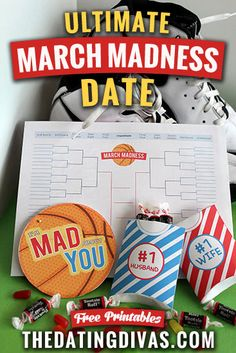 Such fun ideas for this basketball season! The perfect March Madness date with free printables too! www.TheDatingDivas.com