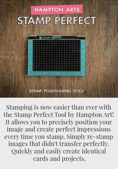 Hampton Art Stamp Perfect Stamping Tools Card Making Techniques