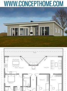 Home Plan, House Plan, Floor Plan #homeplans #houseplans #floorplans #architecture #newhome Modern Architecture Design, Interior Architecture, Interior Design, Modular Home Plans, Modular Homes, Small House Plans, New Homes, Floor Plans, Houses