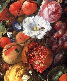 Jan Davidsz. de Heem, Utrecht 1606 - Antwerpen 1683 oder 1684  Girlande mit Früchten und Blumen / Festoon of fruit and flowers (ca. 1660 - 1670)  Rijksmuseum, Amsterdam