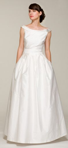 Love!! Vintage inspired off-shoulder ball gown.  Ariadress.com  Audrey style 121FB