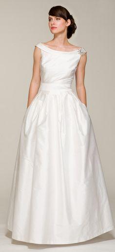 Audrey $ ($500 - $1000) Style 121. Bateau wedding dress with built-in waistband. Ariadress.com